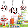 46! DANGLER DECORATION 3/PKG PARTY SUPPLIES
