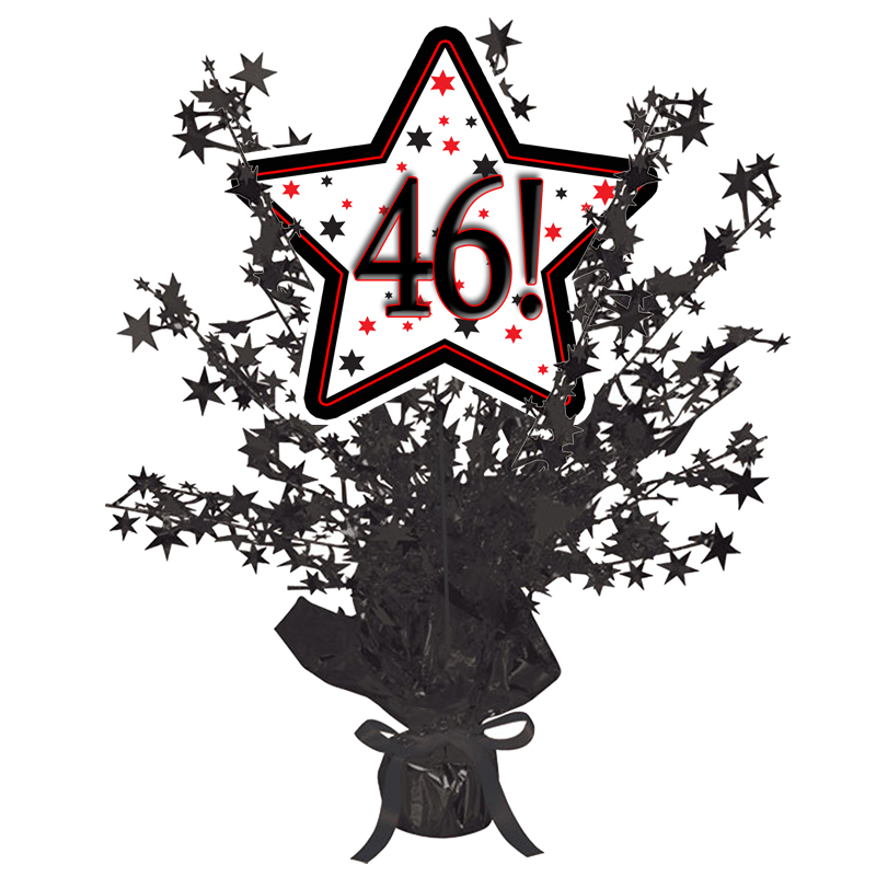 Click for larger picture of 46! BLACK STAR CENTERPIECE PARTY SUPPLIES