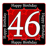 46TH BIRTHDAY COASTER PARTY SUPPLIES