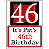 PERSONALIZED 46 YEAR OLD YARD SIGN PARTY SUPPLIES