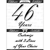 46 YEARS CLASSY BLACK DOOR BANNER PARTY SUPPLIES