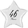 46 YEARS CLASSY BLACK STAR BALLOON PARTY SUPPLIES