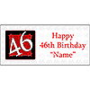 PERSONALIZED 46 YEAR OLD BANNER PARTY SUPPLIES