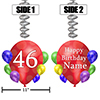46TH BALLOON BLAST JUMBO CUSTOM DANGLER PARTY SUPPLIES