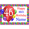 46TH BALLOON BLAST CUSTOMIZED PLACEMAT PARTY SUPPLIES
