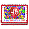 46TH BIRTHDAY BALLOON BLAST EDIBLE IMAGE PARTY SUPPLIES