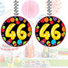 46TH BIRTHDAY BALLOON DANGLER PARTY SUPPLIES