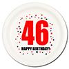 46TH BIRTHDAY DESSERT PLATE 8-PKG PARTY SUPPLIES
