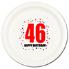 46TH BIRTHDAY DINNER PLATE 8-PKG PARTY SUPPLIES