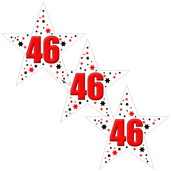 46TH BIRTHDAY STAR DECO FETTI PARTY SUPPLIES