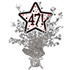 47! SILVER STAR CENTERPIECE PARTY SUPPLIES