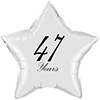 47 YEARS CLASSY BLACK STAR BALLOON PARTY SUPPLIES