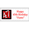 PERSONALIZED 47 YEAR OLD BANNER PARTY SUPPLIES