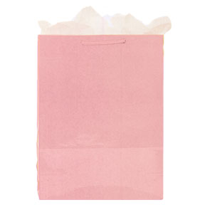 Click for larger picture of DISCONTINUED PINK GIFT BAG - MEDIUM PARTY SUPPLIES