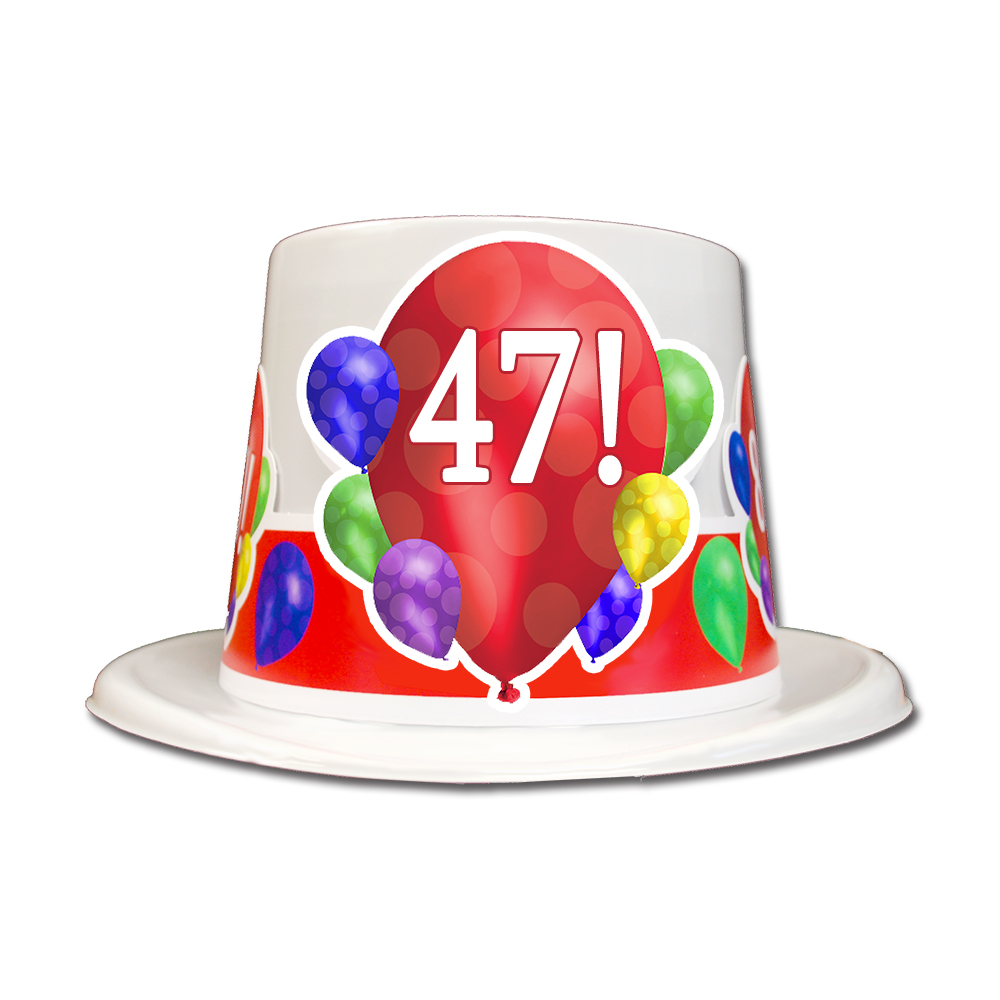 Click for larger picture of 47TH BIRTHDAY BALLOON BLAST TOP HAT PARTY SUPPLIES