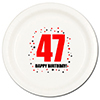 47TH BIRTHDAY DINNER PLATE 8-PKG PARTY SUPPLIES