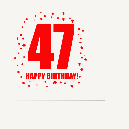Click for larger picture of 47TH BIRTHDAY LUNCHEON NAPKIN 16-PKG PARTY SUPPLIES
