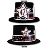 47TH BIRTHDAY TIME TO CELEBRATE TOP HAT PARTY SUPPLIES