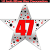 47TH SILVER STAR DECORATION PARTY SUPPLIES