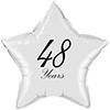 48 YEARS CLASSY BLACK STAR BALLOON PARTY SUPPLIES