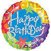 HAPPY BIRTHDAY BLITZ MYLAR 36 IN. PARTY SUPPLIES