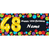 BALLOON 48TH BIRTHDAY CUSTOMIZED BANNER PARTY SUPPLIES