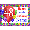 48TH BALLOON BLAST CUSTOMIZED PLACEMAT PARTY SUPPLIES