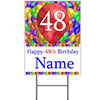 48TH CUSTOMIZED BALLOON BLAST YARD SIGN PARTY SUPPLIES