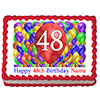48TH BIRTHDAY BALLOON BLAST EDIBLE IMAGE PARTY SUPPLIES