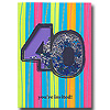 DISCONTINUED 40TH BIRTHDAY SHAKER INVITE PARTY SUPPLIES