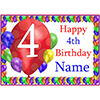 4TH BALLOON BLAST CUSTOMIZED PLACEMAT PARTY SUPPLIES