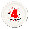 4TH BIRTHDAY DINNER PLATE 8-PKG PARTY SUPPLIES