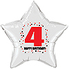 4TH BIRTHDAY STAR BALLOON PARTY SUPPLIES