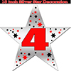 4TH SILVER STAR DECORATION PARTY SUPPLIES