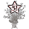 5! SILVER STAR CENTERPIECE PARTY SUPPLIES