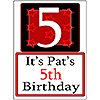 PERSONALIZED 5 YEAR OLD YARD SIGN PARTY SUPPLIES