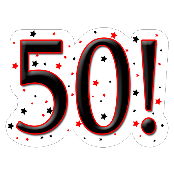 50! DECORATION (15X22 IN.) PARTY SUPPLIES