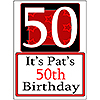 PERSONALIZED 50 YEAR OLD YARD SIGN PARTY SUPPLIES