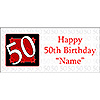 PERSONALIZED  50 YEAR OLD BANNER PARTY SUPPLIES