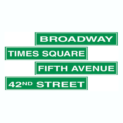 NYC STREET SIGN DECORATION (48/CASE) PARTY SUPPLIES