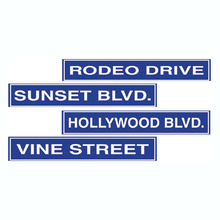 HOLLYWOOD STREET SIGN DECOR (48/CASE) PARTY SUPPLIES
