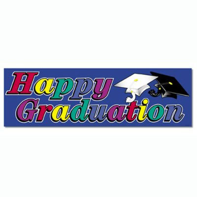 graduation party banners happy graduation banner 63x21 in