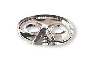 Click for larger picture of METALLIC HALF MASKS SILVER (24/PKG) PARTY SUPPLIES