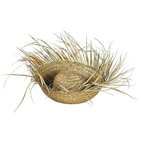 Click for larger picture of STRAW BEACHCOMBER HAT PARTY SUPPLIES