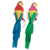Click for larger picture of FEATHERED PARROT 20IN. - (6/CASE) PARTY SUPPLIES