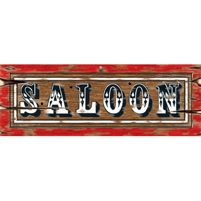 Click for larger picture of SALOON SIGN PARTY SUPPLIES