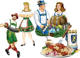 DISCONTINUED OKTOBERFEST CUTOUTS PARTY SUPPLIES