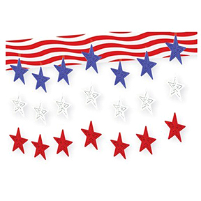 STARS & STRIPES 3-D SKY-SCAPE PARTY SUPPLIES