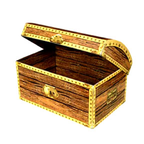 TREASURE CHEST BOX (12IN.X8IN.) 6/CASE PARTY SUPPLIES