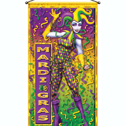 Click for larger picture of MARDI GRAS DOOR PANEL PARTY SUPPLIES